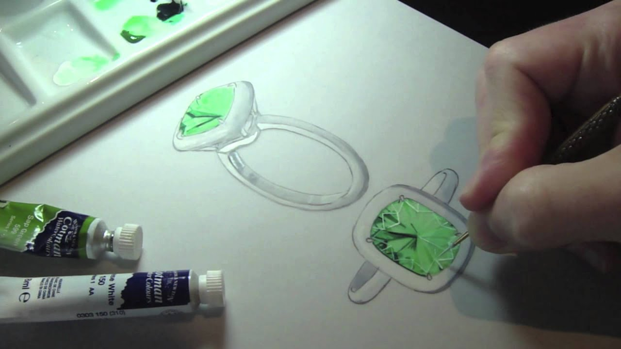 emerald ring design by rdg youtube
