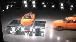 Volvo C70 vs. Volvo XC90 -- crash test