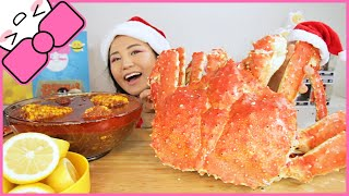 9LB WHOLE KING CRAB l MUKBANG