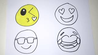 HOW TO DRAW and COLOR EMOJIS | Coloring Emoji | Funny drawings for children | Happy Kids Advenures