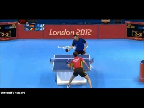 London 2012 Table Tennis: Adrian Crisan vs Timo Boll