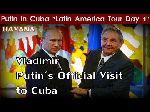 Putin in Cuba | Latin America Tour DAY 1 | In Pictures | Путин на Кубе