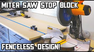 Fenceless Miter Saw Stop Block!
