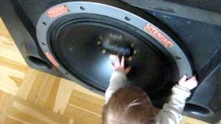 "12 month baby - VS - magnat aggressor 20"" subwoofer"