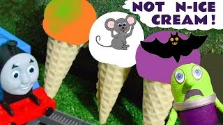 Thomas The Tank Engine and Funny Funlings not Play Doh n Ice Cream Halloween Surprises TT4U