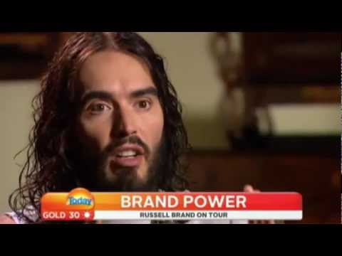 Russell Brand blowing your tiny mind on Australia Today