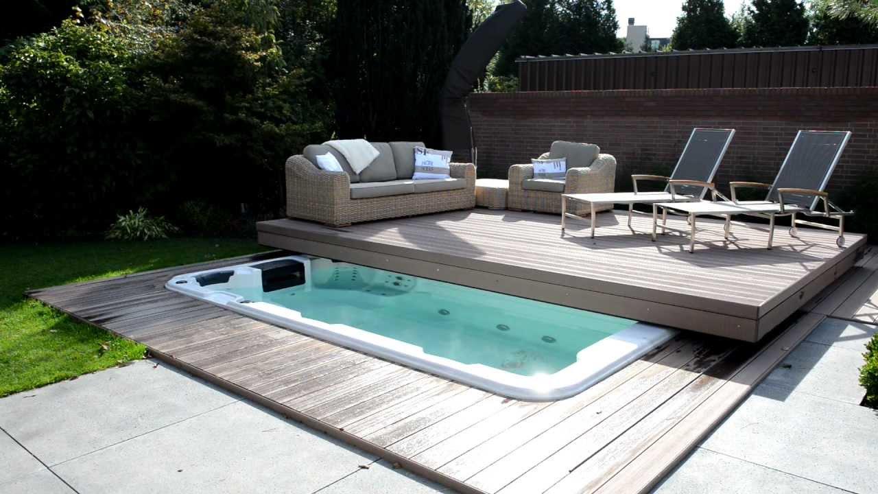 Moving terrace automatisch zwembad terras youtube - Zwembad in het terras ...