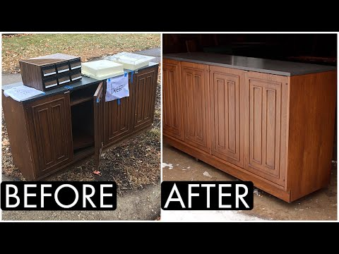 I Found A Mid Century Credenza On The Side Of The Road And Restoration Ensued.