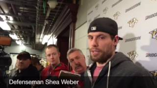 Predators captain Shea Weber talks about his Olympic experience