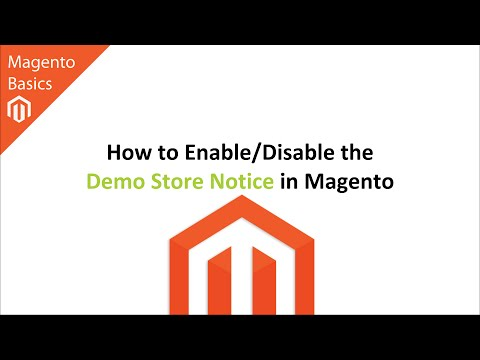 How to Enable/Disable the Demo Store Notice in Magento