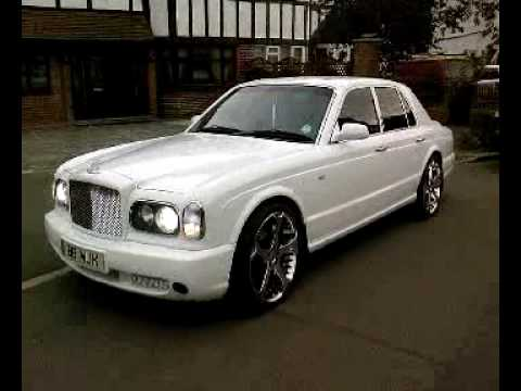 White Bentley Arnage 22 Inch Chrome Alloy Wheels For Hire