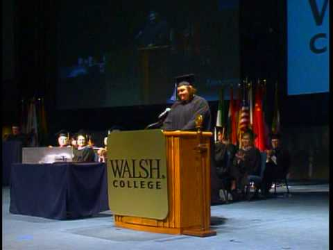 Kara Caruth - Walsh College June 2010 student commencement speaker