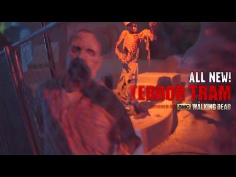 Terror Tram (COLOR!!) at Halloween Horror Nights 2014 Universal Studios Hollywood
