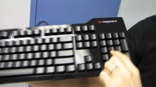 Metadot Das Keyboard Ultimate Blank Mechanical Blue Keyboard Unboxing & First Look Linus Tech Tips