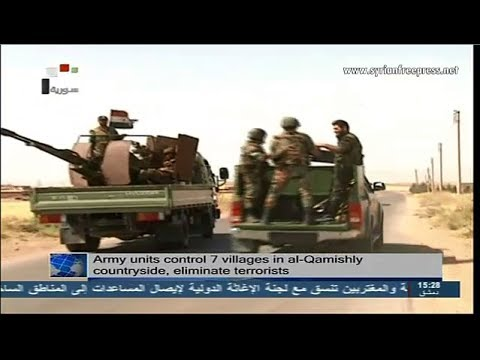 Syria News 29/6/2014, Army restores security to 7 villages in Qameshly eastern countryside