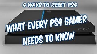 How to reset PS4 fixes no signal, freezes, controller sync, data error, service menu, network errors