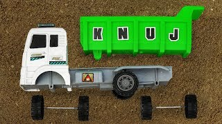Construction Vehicle Toy Assembly Video for Kids Cars Carrying Animals Dump Truck - B1197C