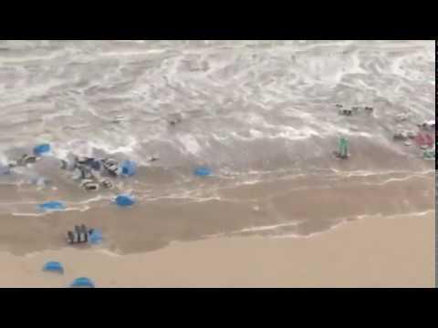 Mini tsunami in Zandvoort