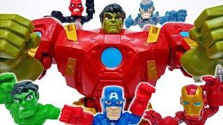 Hulk VS Hulkbuster~! Marvel Avengers Super Hero Mashers Micro  #ToyMartTV