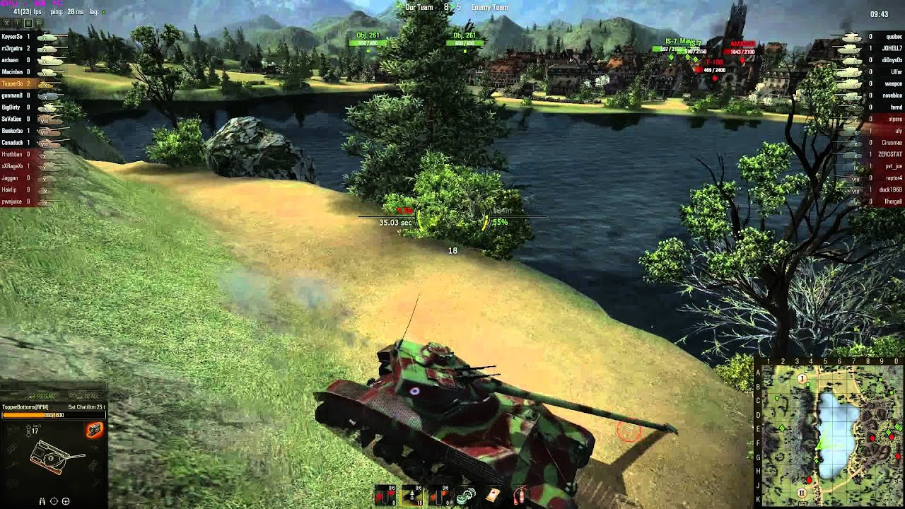 World of Tanks Clan Wars battle between RPM and Baddies on Lakeville. Marc