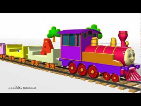 Abcd Alphabet Train Song - 3d Animation Alphabet Abc Train Songs For Children video