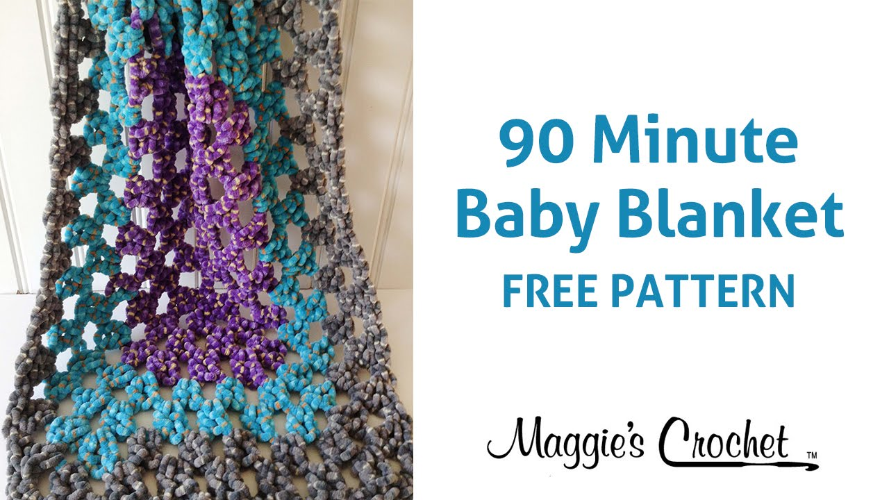 Free Crochet Twin Blanket Pattern : 90 Minute Baby Blanket Free Crochet Pattern - Right Handed ...