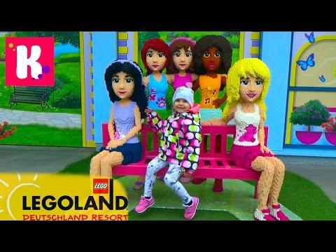 Германия #2. Леголенд парк аттракционов/ Катя катается на игрушечном паровозике/ Legoland Germany