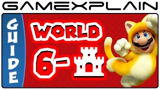Super Mario 3D World - World 6 Castle Green Stars & Stamp Locations Guide & Walkthrough