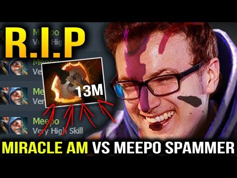 MIRACLE Anti Mage vs MEEPO Spammer with 70% Winrate Dota 2