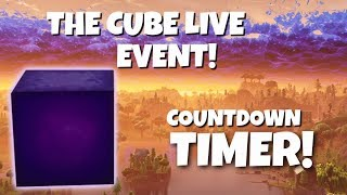 THE CUBE EVENT LIVE! ITS HAPPENING NOW! COUNTDOWN TIMER! (FORTNITE BATTLE ROYALE) PS4 PRO