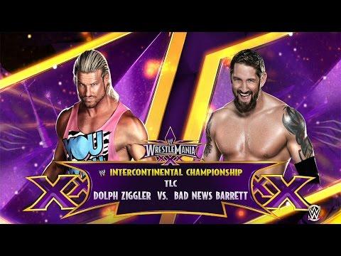 WWE 2K15: Dolph Ziggler vs Bad News Barrett- TLC Intercontinental Championship