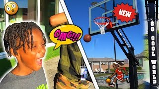 Surprised My Kids With 2 NBA Basketball Courts!!!