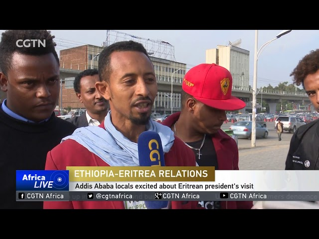 Eritrean President Afwerki on historic visit to Addis Ababa