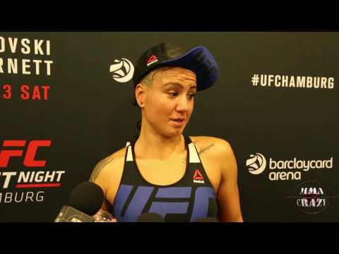 Ashlee Evans-Smith UFC Fight Night Hamburg Post Fight Media Scrum