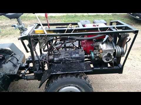 Минитрактора своими руками 4х4 с двигателем