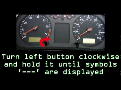 Volkswagen Golf Oil Service Interval Reset (97-99).avi