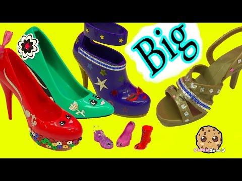 Painting + Designing Large Big Shopkins Inspired Shoes - Crayola Shoe Designer Studio Craft Playset