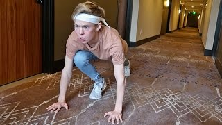 HOTEL HALLWAY RUNNING CHALLENGE!