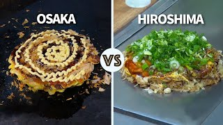 Osaka vs Hiroshima Okonomiyaki | Which one is better? ? ONLY in JAPAN