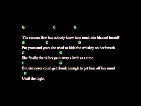 Whiskey Lullaby (Brad Paisley) lyrics + Gitarren Tab