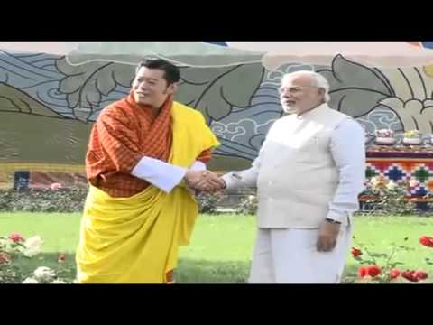 PM Shri Narendra Modi meets his Majesty the King of Bhutan - 15 June 2014
