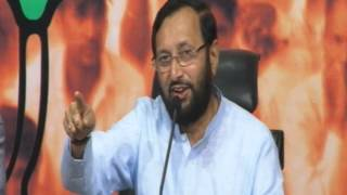 BJP Press_ Issue of 2G spectrum auction_ Sh. Prakash Javadekar_ 16.11.2012