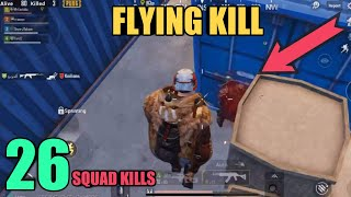 Fly Like Superman | 26 Kills Random Squad | PUBG Mobile