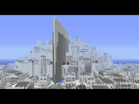 Huge Minecraft Minas Tirith by Fishyyy