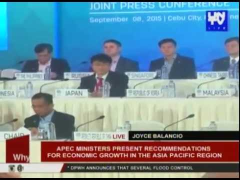 APEC ministers present recommendations for economic growth in the Asia-Pacific region