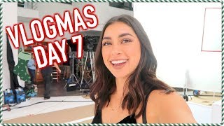 On Set in LA & Surprise Europe Trip... VLOGMAS DAY 7