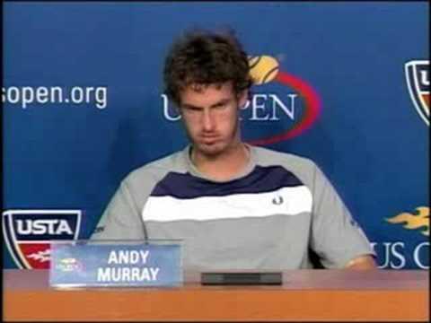 全米オープン 決勝戦(ファイナル) s Press Conference アンディ マレー 09.08.2008