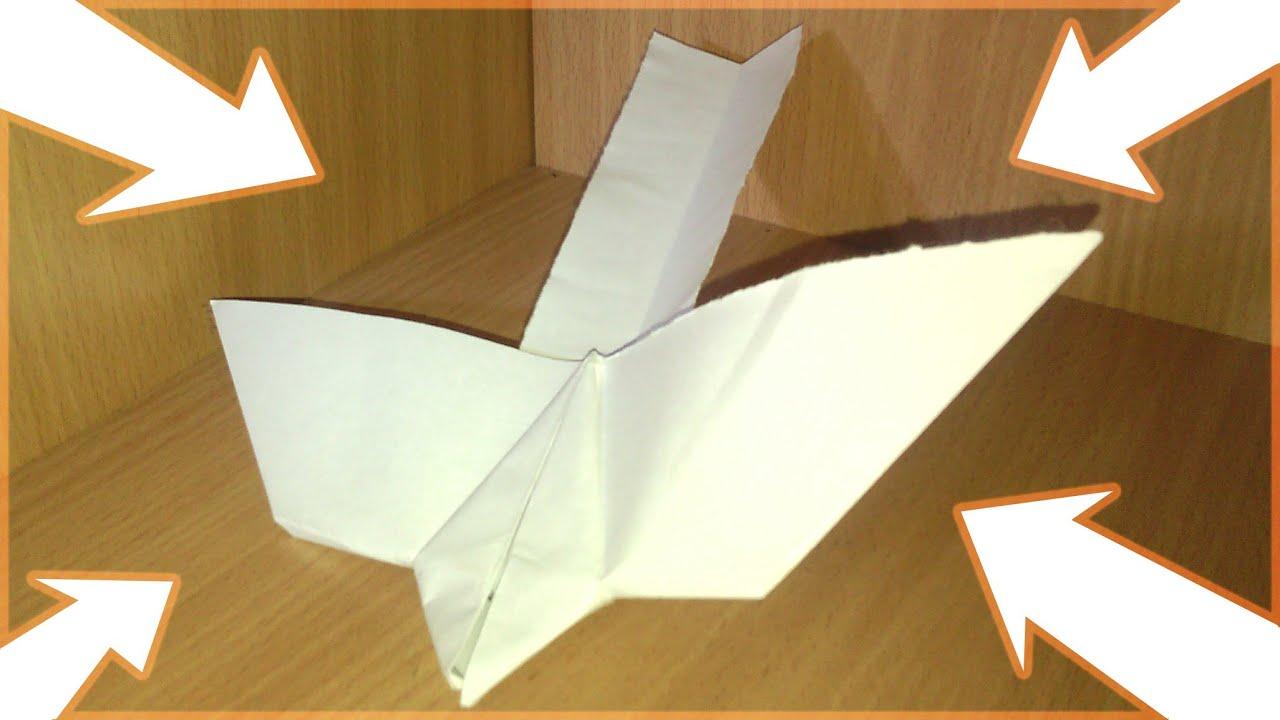 Как сделать из бумаги птицу летающую видео