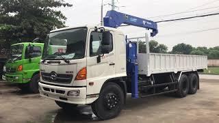 Xe tải Hino 3 chân 16 tấn gắn cẩu 5 tấn 3 đốt Tadano TM-ZT503H2 | Liên hệ: 096.558.6699