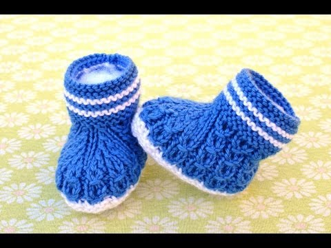 How to Knit Mock Cables Boot Style Baby Booties Part 1